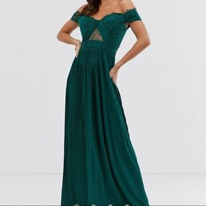 ASOS Tall Lace and Pleat maxi